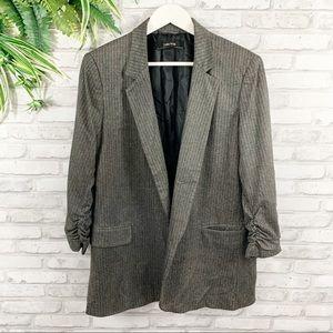 ZARA • Oversized Classic Rouged Sleeve Blazer